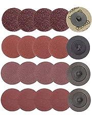Gasea 40 discos de lija de cambio rápido de 5 cm, discos de lijado tipo R Avrasivo, 24/60/120/240 grano