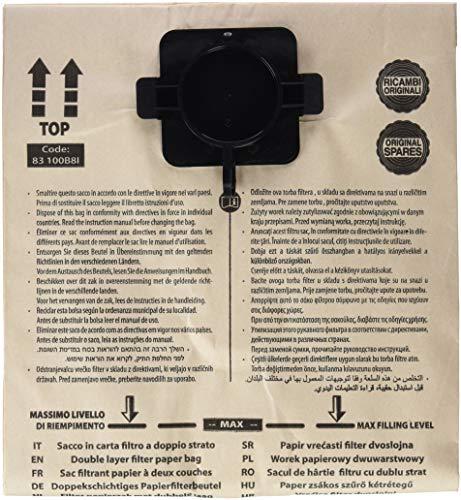 MAKITA 83133B8K 83133B8K-Bolsa Papel Doble Capa 440 5pc, Negro