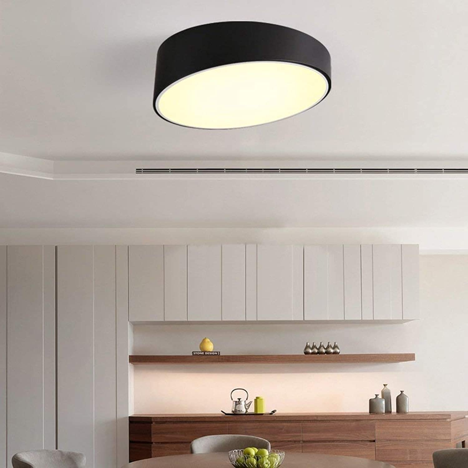 YWGYZ Irons Loft Industrial Controlled Style Restaurant Café Retro Lively Personality Ceiling Lights Ceiling Lights, Two Styles Optional,BlackPromise Dimming50cm