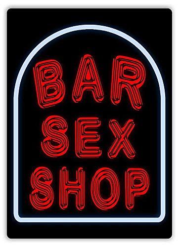 Generic Brands Bar Sex Shop Lata de chapa Vintage Retro Placa de hierro pintura Aviso de advertencia retro cartel de cafetería bar película regalo baño garaje