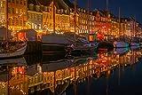 SHILIHOME Vista Nocturna De Newport Dinamarca DIY 5D Pintura De Diamante por Número Kits Únicos Decoración De La Pared del Hogar Cristal Rhinestone Decoración De La Pared Punto De Cruz