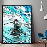 DIY Pintar por números Arte Japonés Animación Cine TV Pintura pintura por números Con pincel y pintura acrílica, pintura para adultos por números, kits de decoración de la hab40x60cm(Sin marco)