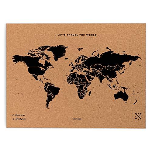 Miss Wood Map XL – Mapa del mundo
