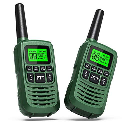 GOCOM G2 FRS Walkie Talkies for Kids & Adults IPX4 Waterproof Long Range Two Way Radios 22 Channel LED Flashlight Two Way Walkie Talkie 2Pack