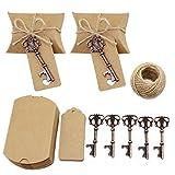 TsunNee Décapsuleur de bouteille pour mariage avec étiquettes, boîtes à bonbons, clés, décapsuleurs de vin 20 pièces Style 6