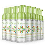 Care Touch Alcohol-Free Foaming Hand Sanitizer - 8 Pack - 1.69oz Bottle - Travel Size, Fragrance-Free Moisturizing Hand Sanitizer for Home, Office, Gym