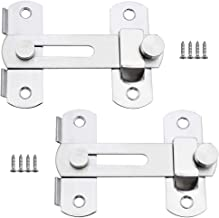 KingYH 2 Pack Door Hasp Latch Bolts Lock Stainless Steel Flip Latch Heavy Duty Sliding Hasp Gate Latches for Garden Fence ...