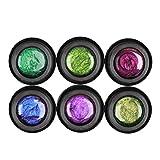 Lurrose 6 piezas esmalte de uñas ojo de gato esmalte de gel brillo galaxy remojo camaleón esmalte de uñas manicura gel laca esmalte de uñas