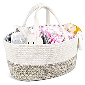 KavaasCasa Baby Rope Diaper Caddy
