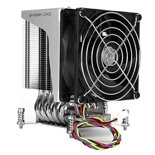 PUSOKEI Ventilador de CPU, Enfriador de Aire de CPU de Ventilador silencioso PWM Cuadrado de 126 mm, Enfriador de CPU de bajo Ruido SNK ‑ P0050AP4 4U LGA 2011 para Intel Xeon E5‑1600 / E5‑1600