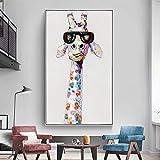 sanzangtang Poster Drucken Giraffe für Wohnzimmer Sofa Home Decoration,70x115cm,Rahmenlose...