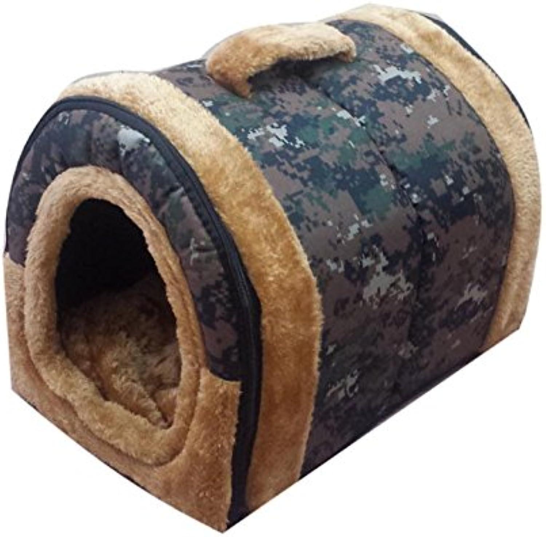 CHONGWUCX Detachable four seasons pet cushions kennel yurt teddy small dog house