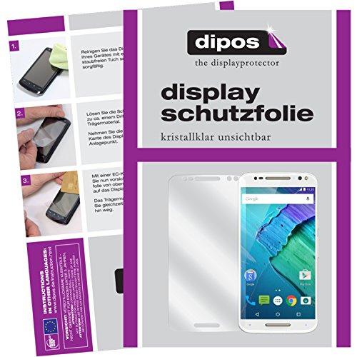 dipos I 2X Schutzfolie klar kompatibel mit Motorola Moto X Style Folie Bildschirmschutzfolie