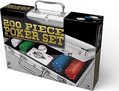Spin Master Games 200 pc Poker Set in Aluminum Case (Styles Will Vary)