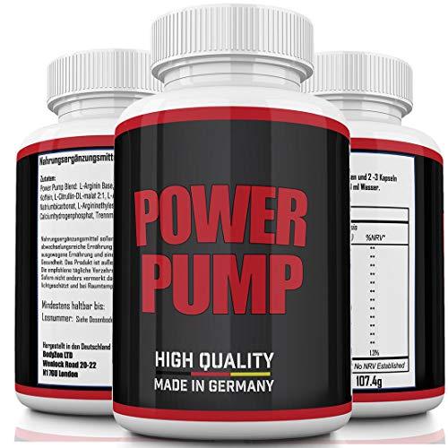 L-Arginin + L-Citrullin - Hochdosiert - 1100 mg pro Kapsel - Citrullin + Arginin, AAKG, NAD, A-KIC - Premium Aminosäuren - Made in Germany - Power Pump