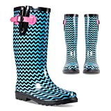 Twisted Women's Rubber Rain Boots | Ladies, Knee...