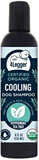 4-Legger All Natural Tea Tree USDA Certified Organic Dog Shampoo with Peppermint - Natural Holistic Alternative to Medicated Dog Shampoo for Antifungal Antibacterial - Concentrated - USA - 8 oz