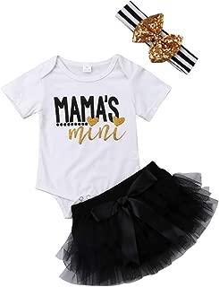 Newborn Baby Girl Lip Print Clothing Mama's Mini Bodysuit Romper Shirt+Leg Warmer+Headband 3Pcs Outfits Clothes Set