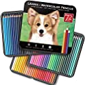 72-Pack LEAFAX Watercolor Colored Pencils for Professionals
