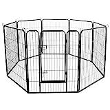 Meihua Dog Playpen Heavy Duty Foldable Metal Pet Pens,Dog Exercise Fence Outdoor Indoor……