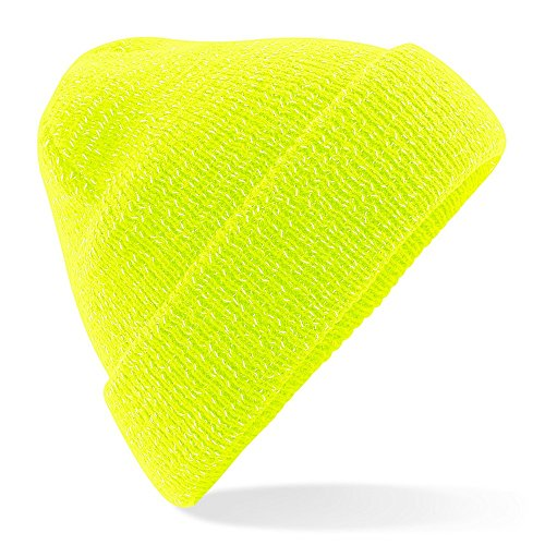 Beechfield - Gorro reflectante de punto unisex (Talla Única/Amarillo fluorescente)