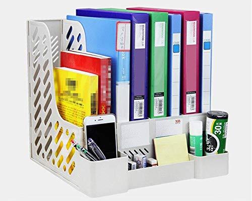 GYC Tragbares Home Office-Dateibox Kunststoff Desktop-Speicher Bürobedarf Vier Schichten Aktenregal Informationsleiste Datei-Finishing-Box Stiftbehälter32 * 31 * 30,5 cm/Packung mit 2, 1