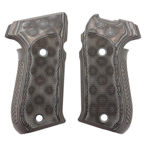 Hogue Sig P220 American Grips (Checkered G-10 G-Mascus), Black/Grey