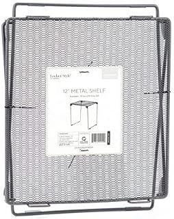 U Brand Mesh Metal Locker Shelf Gray 12