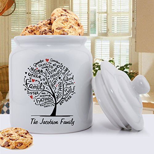 Personalized Cookie Jar - Family Roots Cookie Jar