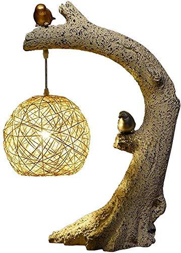 Luz China de Estilo lámpara de Mesa Zen Noche Salón Dormitorio Estudio de cabecera (Color : 38x58cm)