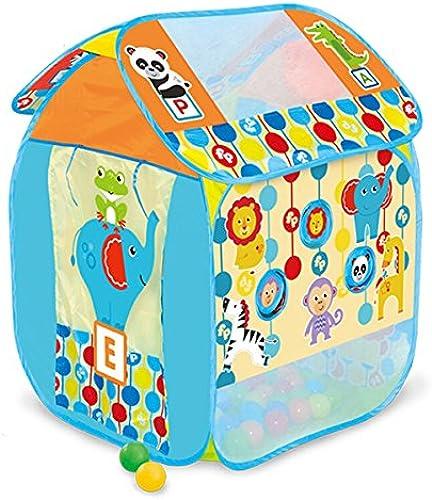 LIAN Kinder Spielzelt Indoor Folding Game House Outdoor Größes Haus Tourismus (Blau, Gelb Verpackung von 1) (Farbe   Blau B)