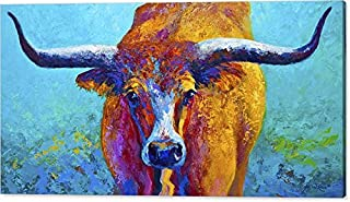 Y&J ART texas Longhorn Oil Painting Reproduction on Canvas Prints Wall Art, Ready to Hang - 20