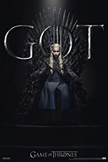 Pyramid America Game of Thrones Daenerys Targaryen Iron Throne Season 8 Laminated Dry Erase Sign Poster 24x36
