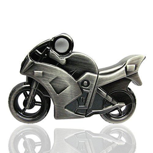 818-Shop No20400070032 USB-Sticks (32 GB) Metall Motorrad 3D silber