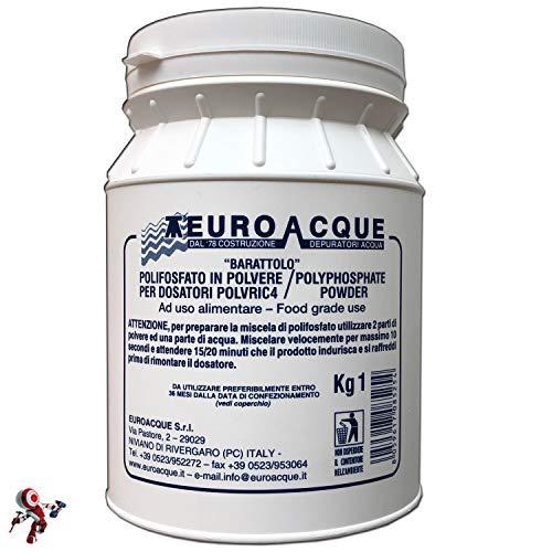 Ricarica polifosfati euroacque 1 kg Ricariche per dosatori in polvere, a rapida solidificazione per massima durata, polifosfato in polvere, polifosfat