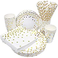 250-Pieces Esafio Disposable Paper Plates Set