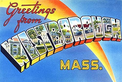 Greetings from Westborough Massachusetts Houston Mall Vintage Mail order - Pos 1930's