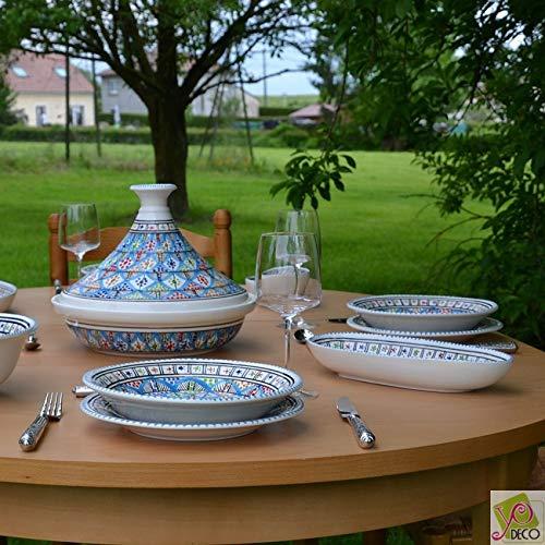 Service tajine assiettes plates Bakir Royal - 6 pers