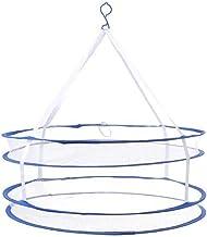 Winddicht Droogrek for Truien Opknoping kleren wasmand Mesh Folding Droger NetsDouble Layer hangen dryin zcaqtajro (Color...