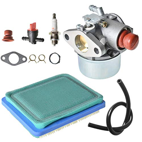 ALL-CARB 640025A Carburetor 640004 with Air Filter Replacement for Tecumseh OHH50 OHH55 OHH60 OHH65 4.5HP 5HP 5.5HP 6HP 6.5HP OHV HOR Engine Replace 640025 640025A 640025B -  640025A 640025B 640004