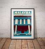 AZSTEEL Vintage Poster Malaysia Penang George Town | Poster