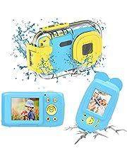 Yixinxin Cámara Fotos Niño Camara Acuatica para Niños HD 1080P Cámara Fotos Niños Video para Niños Digitals con Pantalla IPS HD de 2.0 Pulgadas Azul