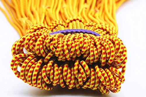 4 meter sterk elastisch touw Bungee-schokkoord Stretch-koord voor doe-het-zelf-sieraden maken Buitenproject Tent Kajak Boottas Bagage, geel