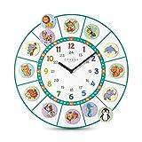Cander Berlin MNU 11040 T - Reloj de pared para niños (sile