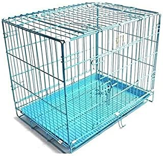 Pet On Wheel Dog Cage, Dog Crate, Cage for Dogs, Strong and Light Weight Foldable Dog Cage (Dog Cage-18 Inch)