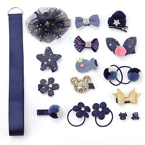 TSEINCE C's haarspeldjes 18 stuks set 7 kleur schattig meisje hoofdtooi vrouwelijke haar accessoires baby haar ring rubberen ring touw