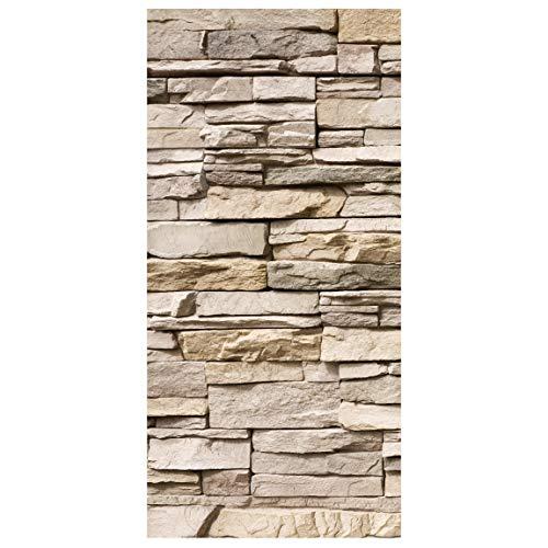 Bilderwelten Raumteiler Asian Stonewall Steinmauer Steine 250x120cm mit transp. Halterung