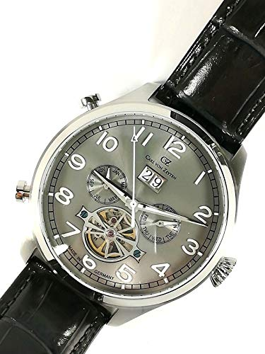 CARL VON ZEYTEN Reloj de hombre original CVZ003GY caja acero 45 mm piel New