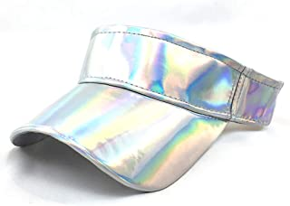 Seevy Holographic Sun Sports Visor Sun Hat Clip-On Visor Beach Golf Cap Hat