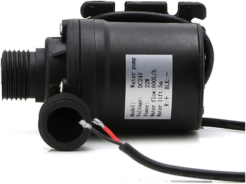 ZTBH Bomba de circulación Bomba de Agua Sumergible sin escobillas, 800L / H 5M 1 2V 24V Calentador de Agua Solar, Corriente Continua Motor sin escobillas Durable (Voltage : 24V)